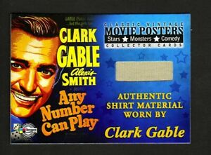 2009 MOVIE POSTERS STARS MONSTERS COMEDY PROP CARD VG1 CLARK GABLE