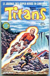 Titans #66 1984- French Marvel Comic- Star Wars- New Mutants FN