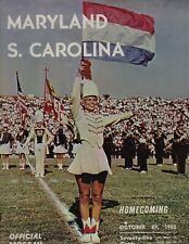 1962 South Carolina @ Maryland College Football Program REEVES SHINER Free Ship