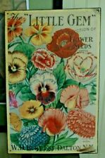 The Little Gem Flower Seeds Tin Advertising Sign - W..D Burt Dalton New York