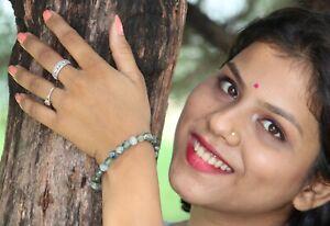 Jet Kyanite Stretch Bracelet 8 mm A Round Beads Gemstone Amulet Charms Healing