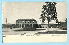 1908 DOVER DE PENN RR STATION * DELAWARE RR Depot