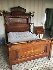Antique Victorian Black Walnut 3-Piece Bedroom Set 1780-1830