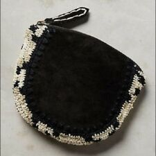 NWT Anthropologie Ciarra Black Suede Pouch by Jasper and Jeera