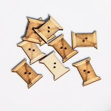 40X Natural color wooden buttons coil shape garment sewing scrapbooking 24mm