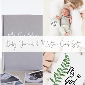 Milestone Cards and Baby Journal Gift set - Pregnancy & Baby Unisex Milestones