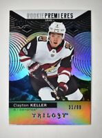 2017-18 17-18 Upper Deck UD Trilogy Black Foil #81 Clayton Keller /99 RC