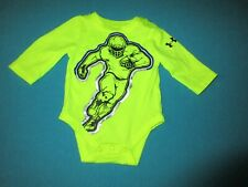 UNDER ARMOUR Infant Boys Neon Yellow Long Sleeve One Piece Football 0/3 Months