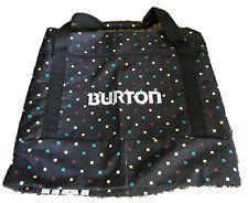 BURTON BLACK with SQUARE CUBE MULTI COLOR PATTERN SNOWBOARD BAG #156 EUC