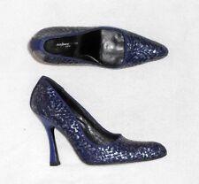 47ec37d6de3202 STEPHANE KELIAN escarpins cuir tressé bicolore violet & argenté P 38 (5) TBE