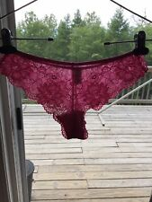 Vintage Victorias Secret Nylon Lace Tanga Bikini Panties S Small NWT