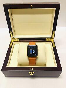 Luxury 24K Gold Plated Apple Watch Series 1 42mm + Luxury Box - Hermes Style