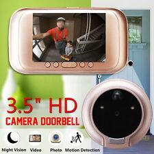"3.5"" 720P Digital Door Bell Camera Video Peephole Viewer Zoom Video Recorder"