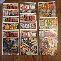 ASTONISHING TALES KA-ZAR #9-20 Lot Of 12 Marvel Bronze Age Neal Adams