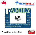 Vida FAMILY Timber 6 x 4 Size Photo Frame Blue by NF Living - New!