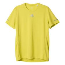 Maglie e top da uomo gialla a manica corta per palestra, fitness, corsa e yoga