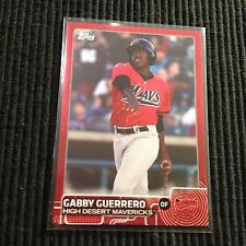2015 TOPPS PRO DEBUT #156 GABBY GUERRERO *RED #4/5*  HIGH DESERT MAVERICKS