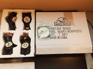 Big Sky Carvers BEARFOOTS Bears NOEL 4 Piece Set By Jeff Fleming Retired #50423