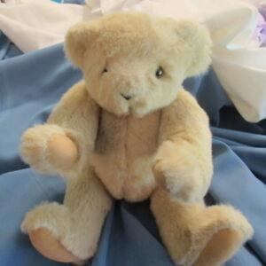 The Vermont Teddy Bear Company Handmade Jointed Tan  Bear Camel Paws
