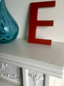 Vintage Red Salvaged Advertising Shop Letter 'E'
