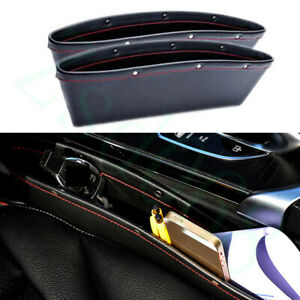 2x Car Black Red Line Front Seat Side Organizer Box Container For Mazda Model