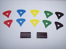 McPherson 1980's Vintage Patented Guitar Pick PICKS, 10 Picks With 2-Graphites