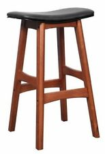 New Kitchen Bar Timber Gangnam Stool or Wooden Cafe Stools Antique Maple + Black