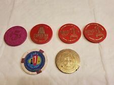 HORSESHOE CLUB $1 Casino Chips 3 Pioneer Inn, Las Vegas Club & BK $5