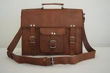 "Real Leather Messenger Bag 13"" Macbook Satchel Briefcase School Crossbody Bag"