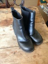 2 Black leather boots 8 dr martins & chunky heeled boots Can buy seperate