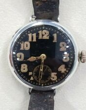 Rare Silver WW1 c.1915 Military Officer's Trench World War Wristwatch 36 mm Nice