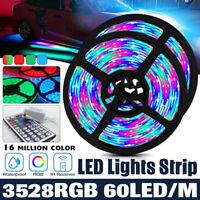 60 LED Strip Lights 1-20M DC 12V RGB Colour Changing TV Lighting Remote  t