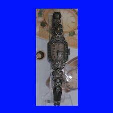 Mint Silver & Marcasite Wein of Dublin Ladies Bracelet Deco Watch 1965