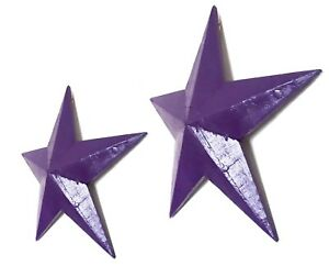 Hanging star wooden wall decoration Purple 39 or 52cm, vintage retro style~NEW