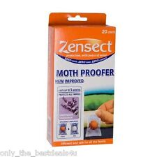 Zensect Moth Proofer REPELLENT Balls with Lavender Pack of 20 WITH INDICATOR