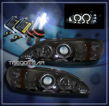1994-1998 FORD MUSTANG HALO LED PROJECTOR HEADLIGHTS+HID 8K SMOKE 1995 1996 1997