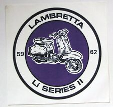 LAMBRETTA LI Series II original 80's mod revial cloth backpatch NOS Innocenti