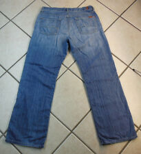 """7 FOR ALL MANKIND """"RELAXED"""" MEN'S BUTTON FLY DENIM BLUE JEANS. SIZE 33 INSEAM 32"""