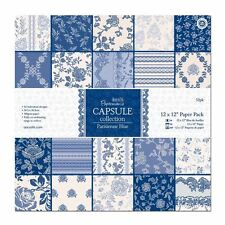 "Paper Pack 12"" x 12"" pack of 32 Capsule Collection Parisienne Blue PMA 160217"