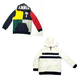 Tommy Hilfiger Kids Hooded Sweatshirt Colorblock New