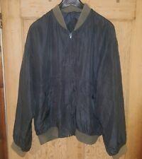 Vintage C&A Men's 100% Silk Bomber Jacket - Large 1980s Over-sized Petrol Blue