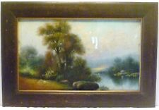 "26"" X 17"" ANTIQUE FUMED OAK Wall Hanging PICTURE FRAME 12"" x 20"" Rabbet"