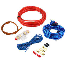 1500W 8GA Car Audio Subwoofer Amplifier AMP Wiring Fuse Holder Wire Cable Kit GA