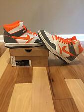 Mens Nike Sky Force 88 Mid Orange white and grey size 10