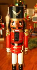 African American Ethnic Black Red Soldier Nutcracker