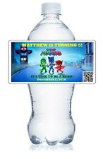 20  PERSONALIZED PJ MASKS BIRTHDAY FAVORS  WATER BOTTLE LABELS waterproof ink