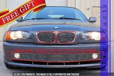 GTG 2001 - 2003 BMW 3 Series 3PC Polished Combo Billet Grille Grill Insert Kit