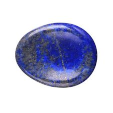 Natural Lapis Lazuli Carved Thumb Worry Stone Polished Healing Crystal WS0016