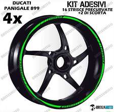 CIRCLE STICKERS ONE COLOR PROFILES Ducati Panigale 899 WHEEL STRIPE GREEN STRIPS