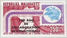 Madagascar Malagasy 1974 723 c133 100 year International collaberation OVP MNH